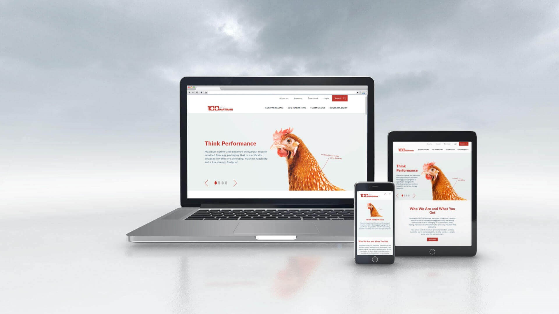 Responsivt website for Hartmann Packaging
