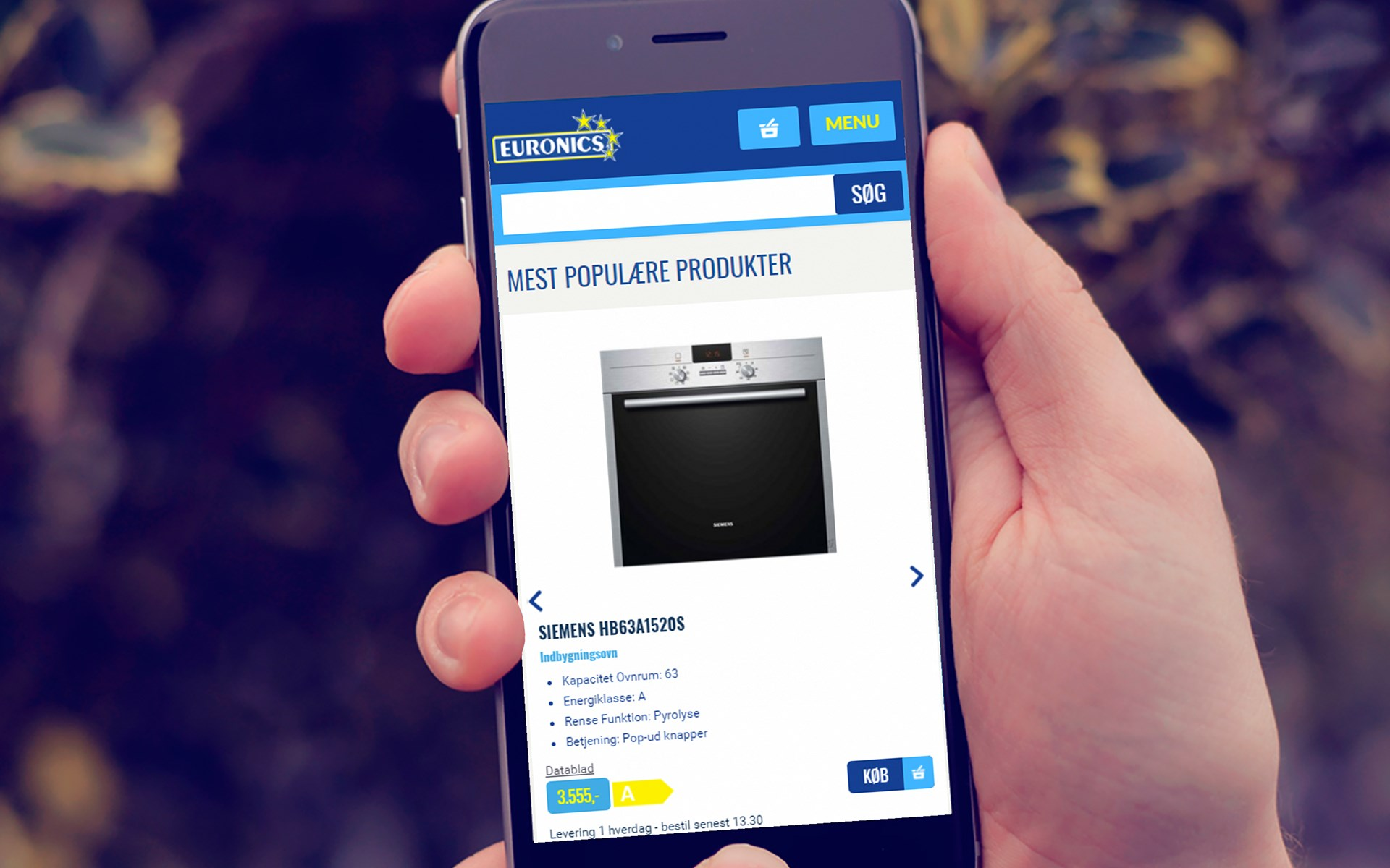 Euronics mobilvenligt website
